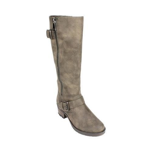 Women's White Mountain Blackbird Riding Boot Stone Suede Smooth Synthetic