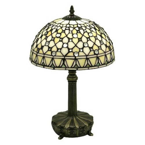 Tiffany Style White Jewel Lamp