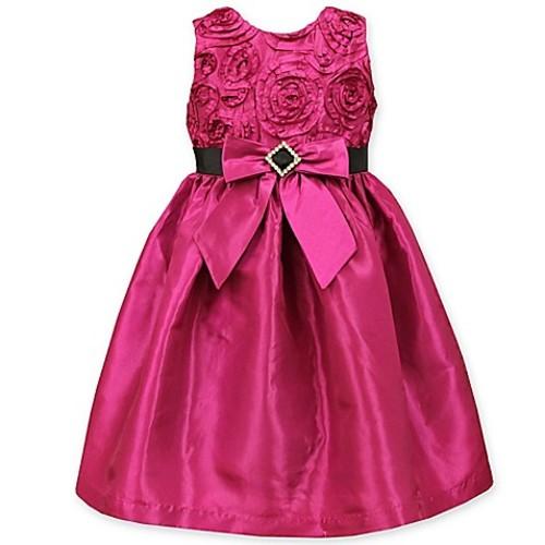 Jayne Copeland Size 2T Soutache Dress in Fuchsia