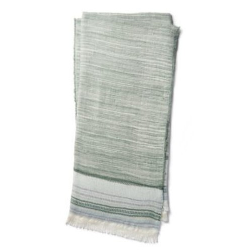 Magnolia Home by Joanna Gaines Alissa Throw Blanket in Sage/Ivory