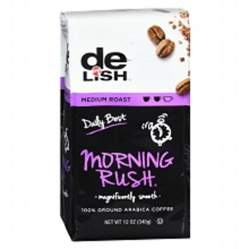Nice! Premium Morning Rush 100% Ground Arabica Coffee Medium Roast