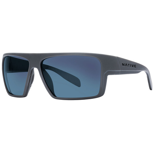NATIVE EYEWEAR Eldo Sunglasses Granite/Matte Black/Granite, Blue Reflex