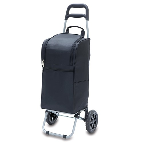 Picnic Time Insulated 'Cart Cooler with Wheeled Trolley', Black [Black]
