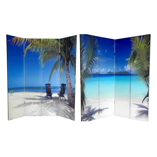 Oriental Furniture Double Sided Ocean Room Divider