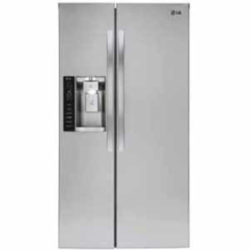 LG 21.9 cu.ft. Ultra Large Capacity Side-By-Side Refrigerator - Stainless Steel