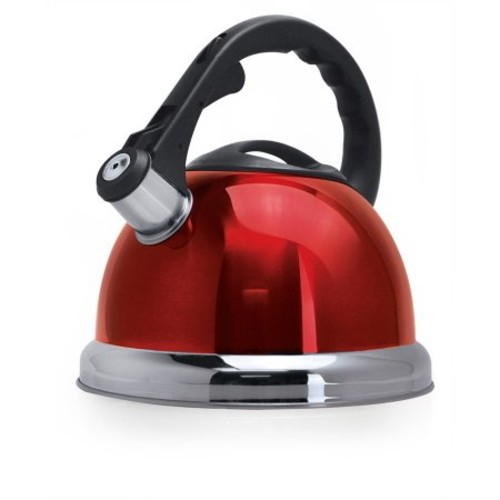 Primula Safe-T Whistling Tea Kettle, Red