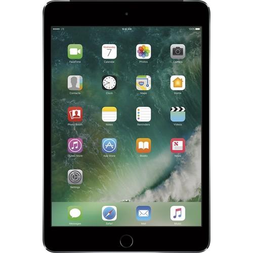 Apple - iPad mini 4 Wi-Fi + Cellular 128GB Verizon Wireless - Space Gray