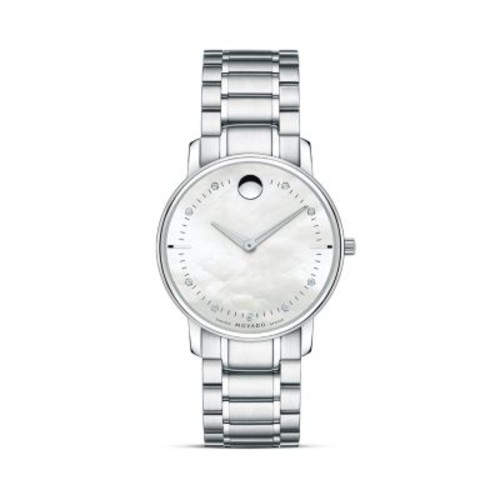 Movado Watch, Womens Swiss Movado Tc Diamond Accent Stainless Steel Br