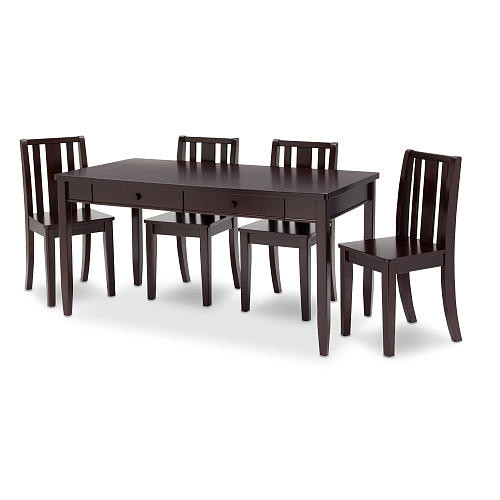 Babies 'R' Us Next Steps Storage Play Table and 4 Chairs Set - Black Espresso