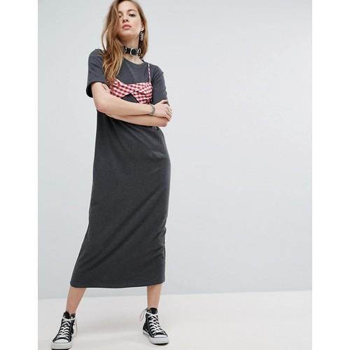 ASOS Maxi T-Shirt Dress with Bra Top