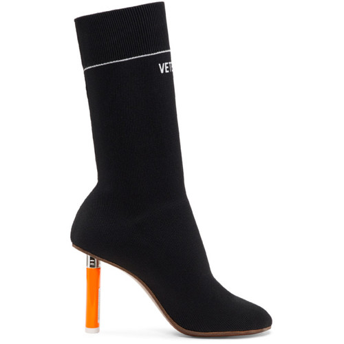 Black Lighter Sock Boots