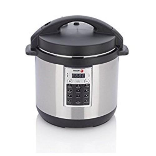 Fagor 670041970 Premium Electric Pressure and Rice Cooker, 8 quart, Silver [Silver, 8 quart]