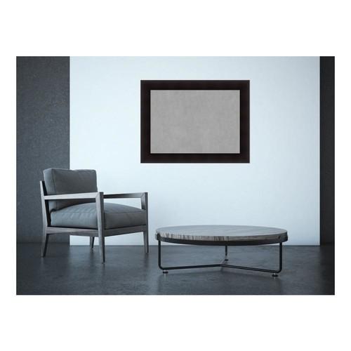 Amanti Art Portico Espresso Wood 34 in. x 26 in. Framed Magnetic Memo Board