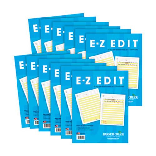 Barker Creek E-Z Edit Paper Set, Grades 1-College, 50 Sheets, Pack Of 12