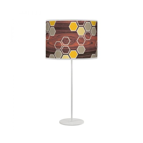 Hex Tyler Table Lamp [Shade color : Yellow]