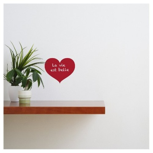 Love Chalkboard Wall Decal - Red