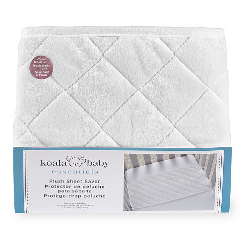 Koala Baby Essentials White Plush Sheet Saver