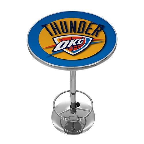 Trademark NBA Oklahoma City Thunder Chrome Pub/Bar Table