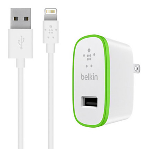Belkin BOOST UP Mobile Charger With Lightning Cable, White