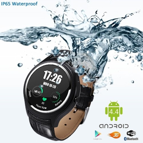 Indigi Stylish Wrist Watch 3G SmartPhone Android 4.4 WiFi Heart-Rate Monitor Google Play Store Weather Forecast GSM Unlocked!