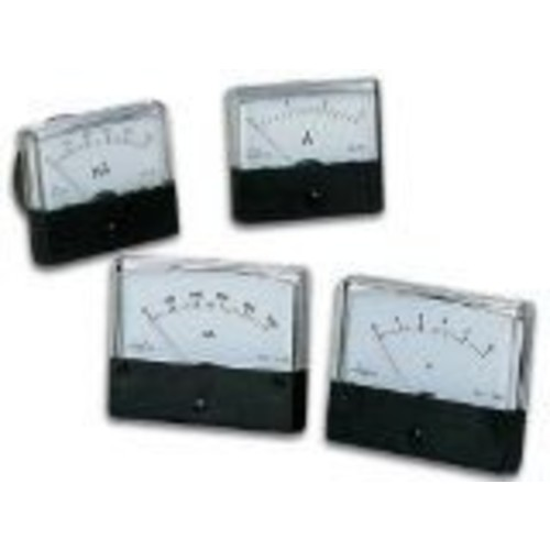 ANALOG CURRENT PANEL METER 500MA DC / 2.4 X 1.9