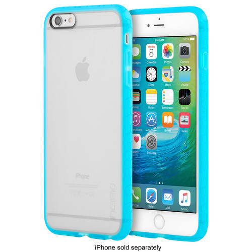 Incipio - Octane Case for Apple iPhone 6 Plus and iPhone 6s Plus - Frost/Cyan