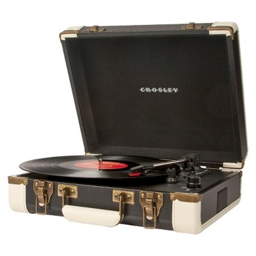 Executive Portable Turntable with USB and Recording Software (Brown)