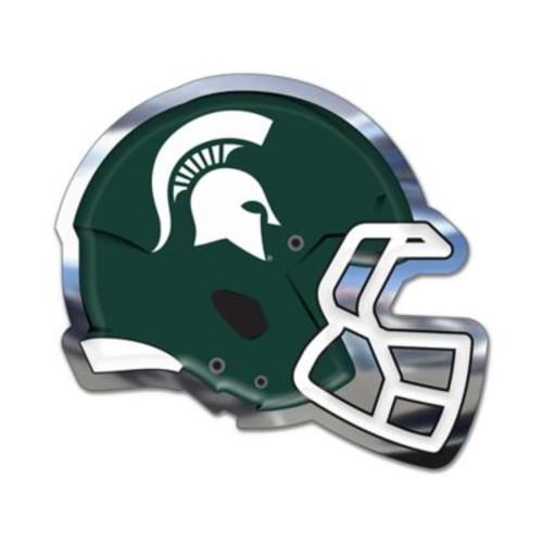 Michigan State University Medium Football Helmet Wall Art in Green/White