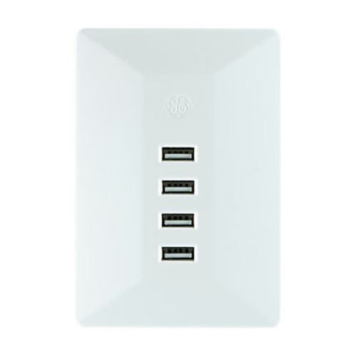 GE UltraPro USB Wall Charger, White, 31712