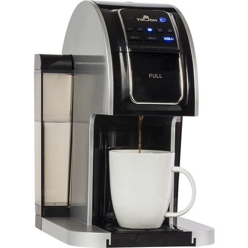 Touch - 1-Cup Coffeemaker - Black/Silver