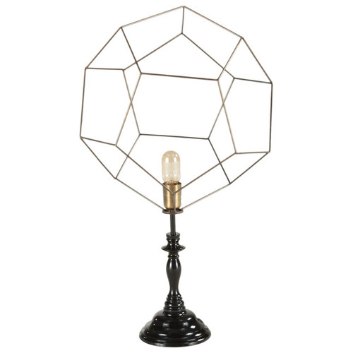 Modern Black/ Gold Abstract Sphere Table Lamp