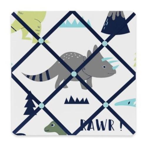 Sweet Jojo Designs Mod Dinosaur Memo Board in Turquoise/Navy