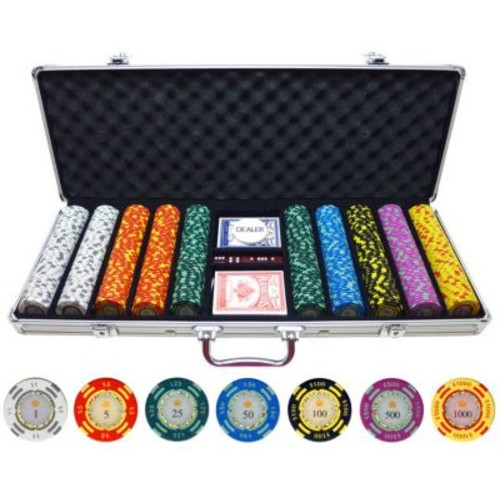 JP Commerce 500 Piece Crown Casino Clay Poker Chips Set