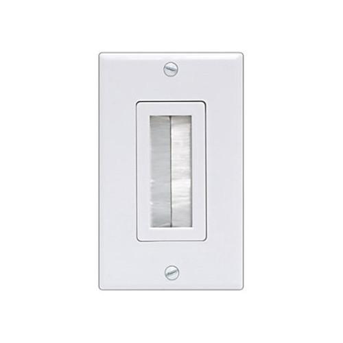 GE Single Brush Wall Plate (White)