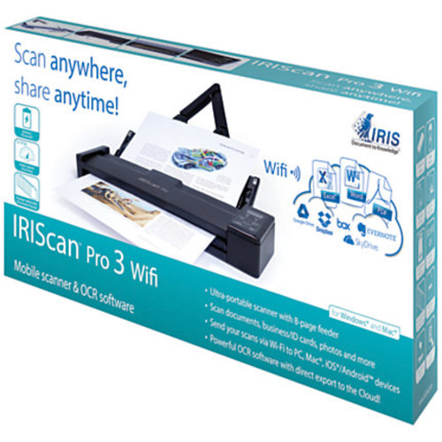 I.R.I.S IRIScan Pro 3 Wifi Cordless Sheetfed Scanner - 600 dpi Optical