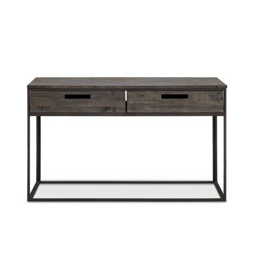 Magnussen Home Furnishings Coffee, Console, Sofa & End Tables Claremont Rustic Weathered Charcoal Storage Entryway Table