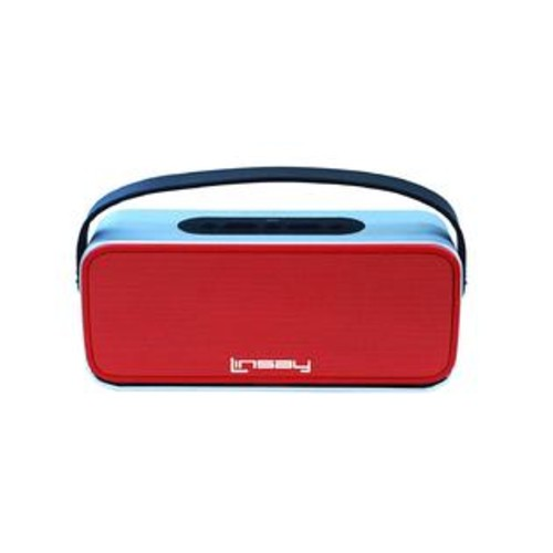 LINSAY NEW SLH_100R High End Bluetooth Speaker, Red