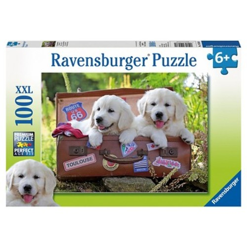 Ravensburger Jigsaw Puzzle 100-Piece - Travelling Pups