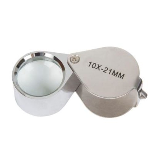 Stalwart 2.25 in. 10x Jewelers Eye Loupe Magnifier with Case