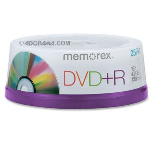 Memorex 5618 Disk 16x DVD+R 4.7GB 25 Pack Spindle 05618