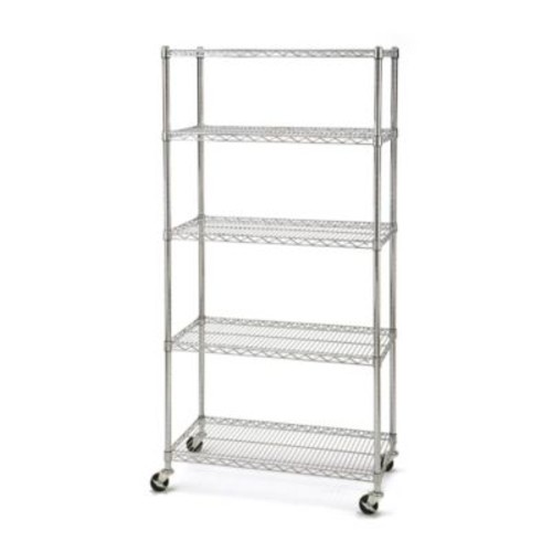 Seville Classics 5-Tier NSF Steel Wire Shelving with Wheels
