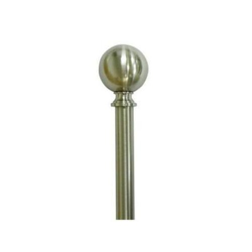 Home Decorators Collection 36 in. - 66 in. Telescoping 3/4 in. Sphere Finial Curtain Rod Kit in Brushed Nickel