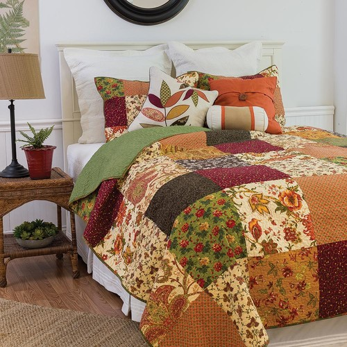 C & F Home Orange Rustic Lodge Twin Quilt Set
