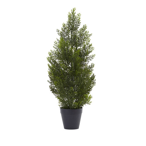 Nearly Natural 2 Mini Cedar Pine Tree (Indoor/Outdoor)