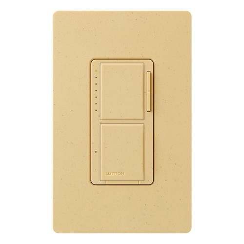 Lutron MA-L3S25-GS Maestro 300-Watt Single-Pole Digital Dimmer and 2.5 Amp On/Off Switch, Goldstone [Goldstone]