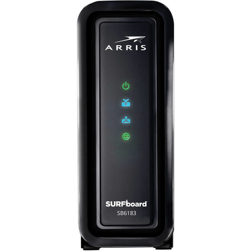 ARRIS SURFboard DOCSIS 3.0 Cable Modem (SB6183) Certified with Comcast Xfinity, Time Warner Cable, Charter, Cox, Cablevision, and more (Retail Packaging - Black)