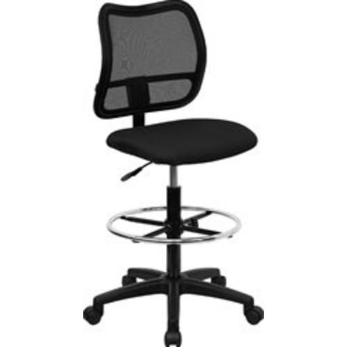 Flash Furniture Mid-Back Black Mesh Drafting Chair [Black, Mid-Back]