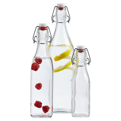 34 oz. Square Hermetic Bottle 1 ltr.