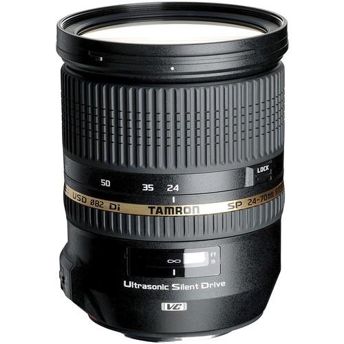 Tamron - SP 24-70mm f/2.8 Di VC USD Standard Zoom Lens for Nikon - Black