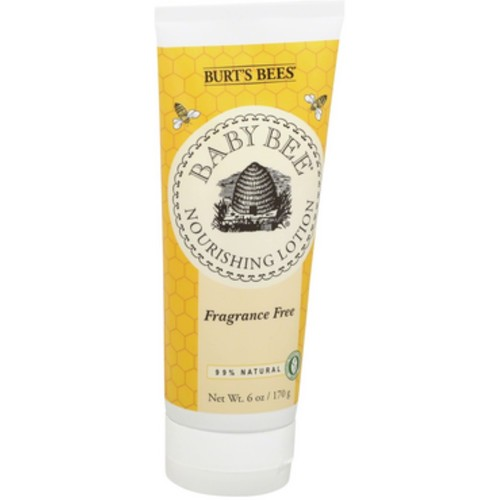 Burt's Bees Baby Bee Nourishing Lotion, Fragrance Free 6 oz (Pack of 3)